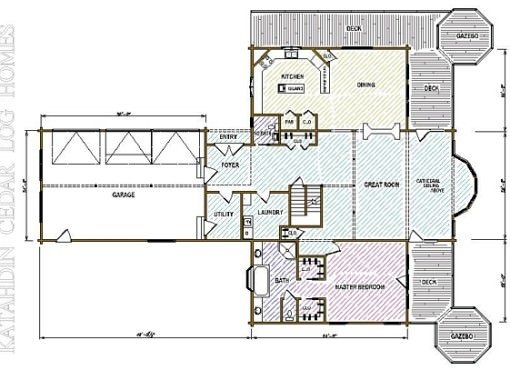 Log Home Plan #02990