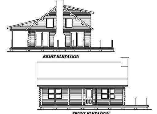 Log Home Plan #02992