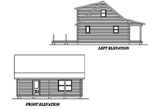Log Home Plan #02996