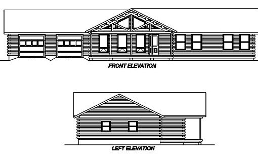 Log Home Plan #02997S