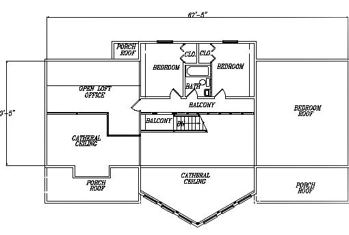 Log Home Plan #03029S