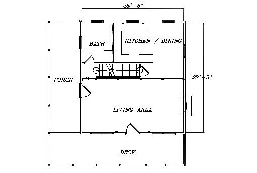 Log Home Plan #03040
