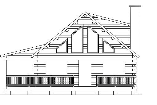 Log Home Plan #03040