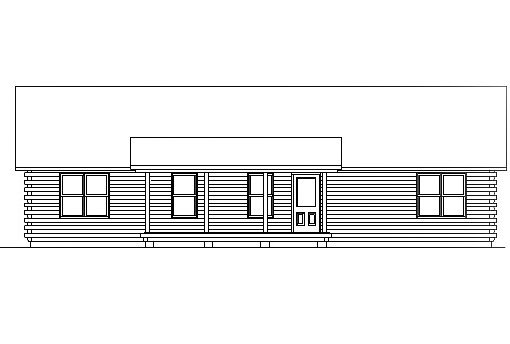 Log Home Plan #03055