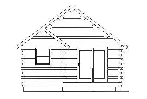 Log Home Plan #03071