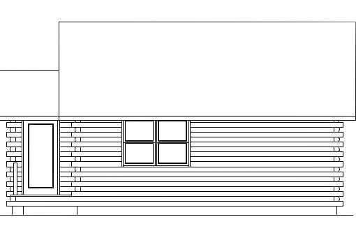 Log Home Plan #03071