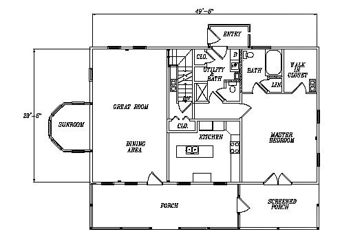 Log Home Plan #03074