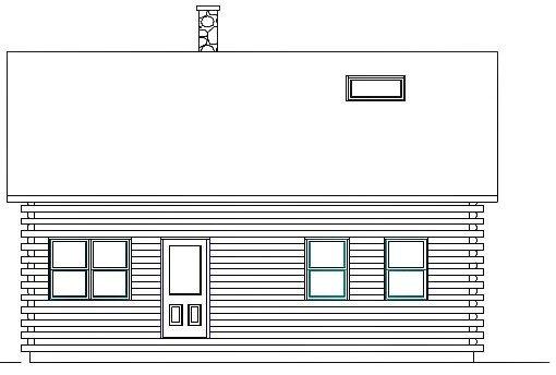 Log Home Plan #03075