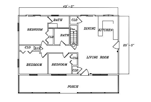 Log Home Plan #03080