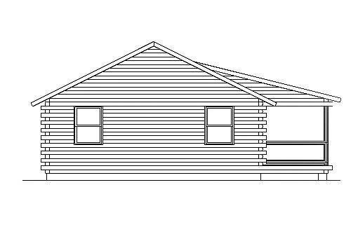 Log Home Plan #03080