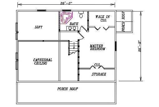 Log Home Plan #03083