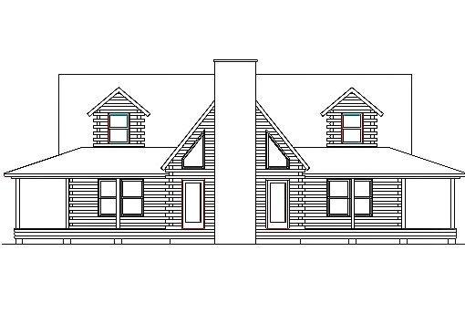 Log Home Plan #03085