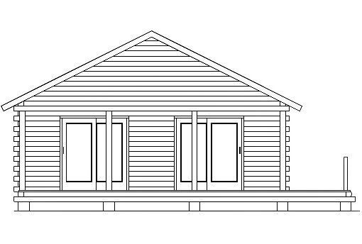 Log Home Plan #03087
