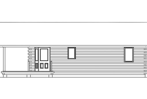 Log Home Plan #03087