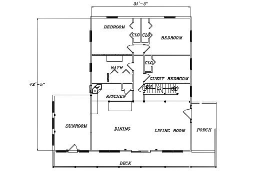 Log Home Plan #03088