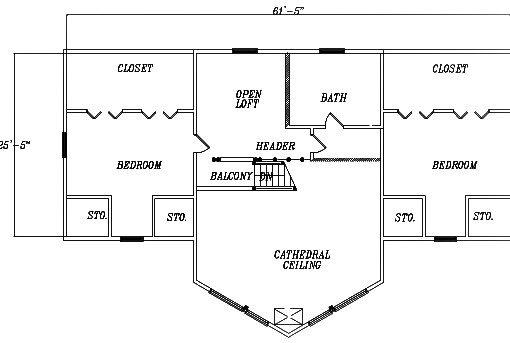 Log Home Plan #03091