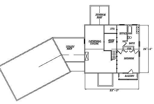 Log Home Plan #03129