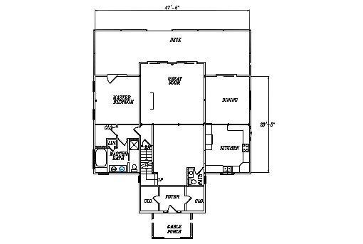 Log Home Plan #03098S