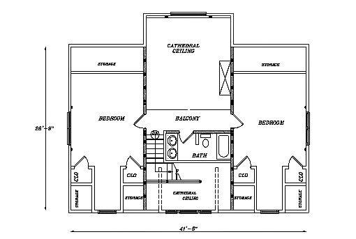 Log Home Plan #03106