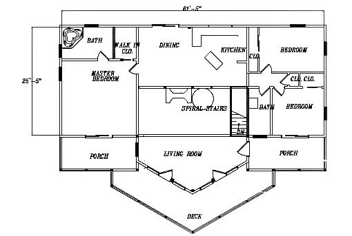 Log Home Plan #03109