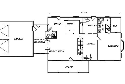 Log Home Plan #03115S