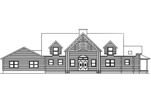 Log Home Plan #03116