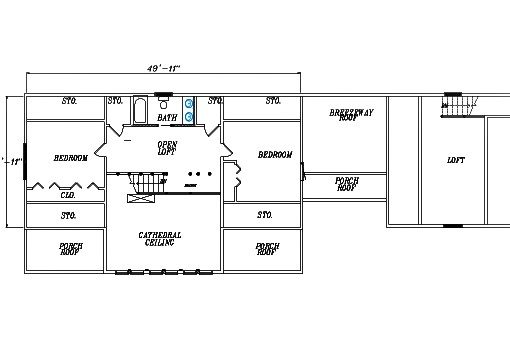 Log Home Plan #03120