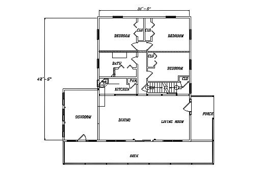 Log Home Plan #03130