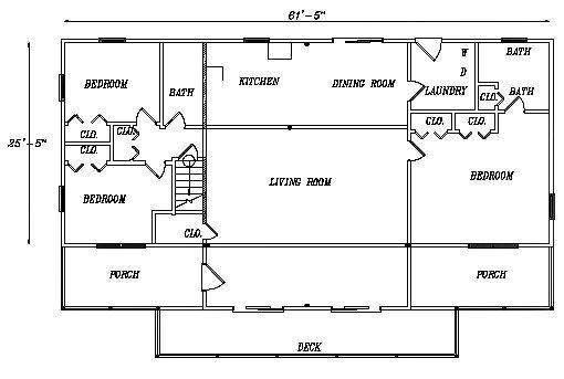 Log Home Plan #03131