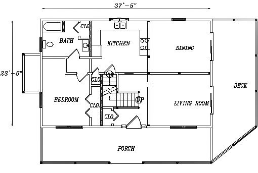Log Home Plan #03136