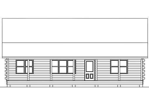 Log Home Plan #03140
