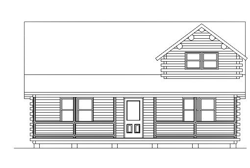 Log Home Plan #03142
