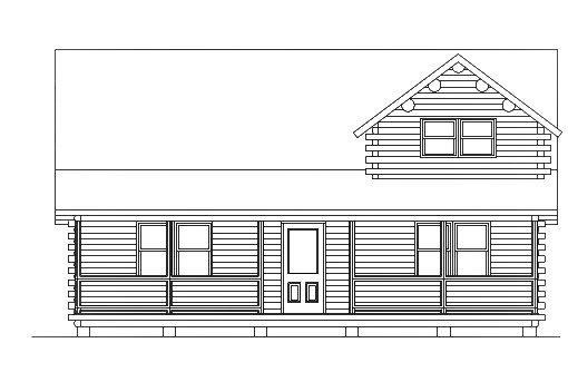 Log Home Plan #03142