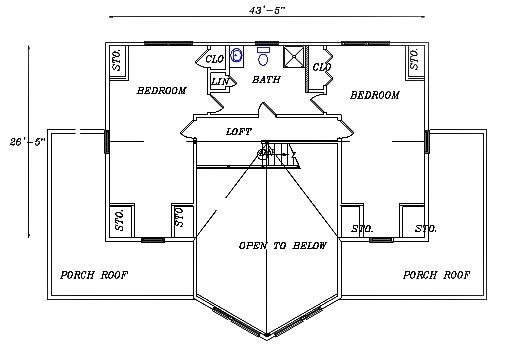 Log Home Plan #03145
