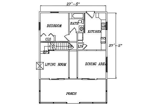 Log Home Plan #03157