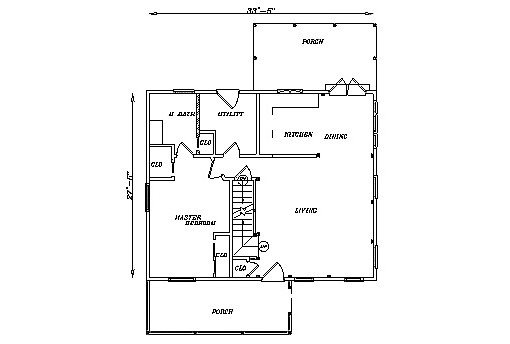 Log Home Plan #03158