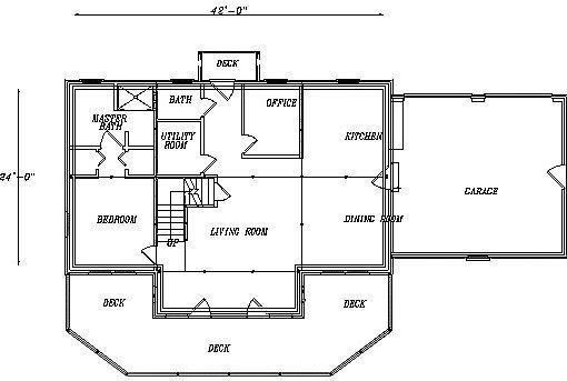 Log Home Plan #03159