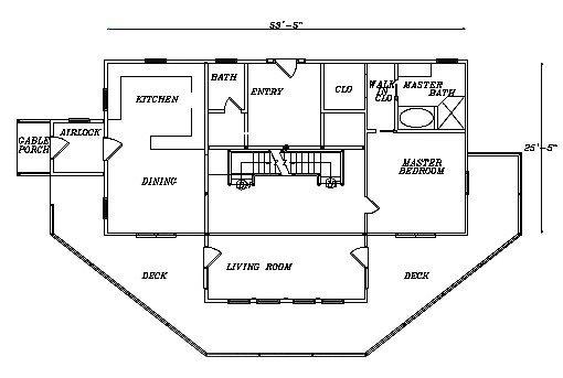 Log Home Plan #03163