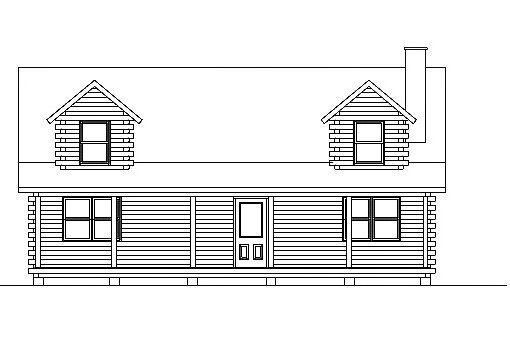 Log Home Plan #03166