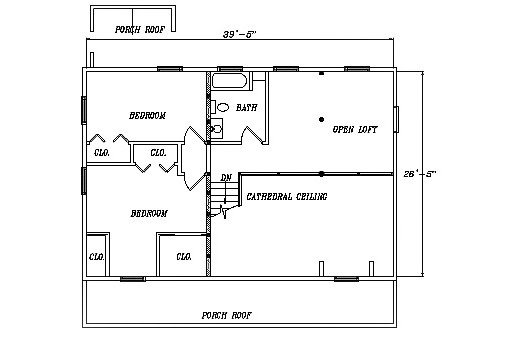Log Home Plan #03166