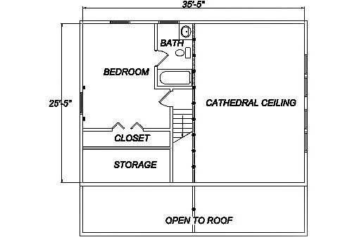 Log Home Plan #03170
