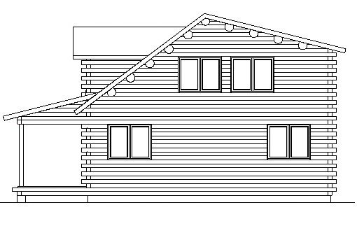 Log Home Plan #03176