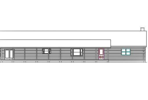 Log Home Plan #03196