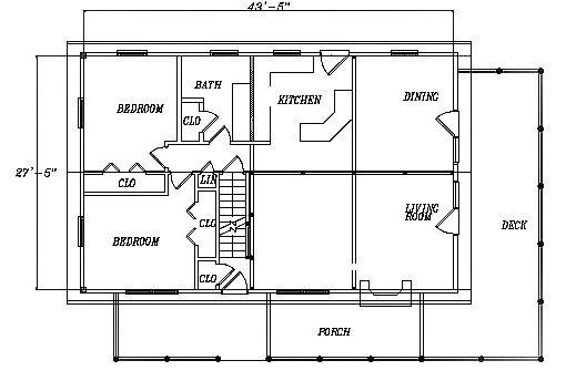 Log Home Plan #03198