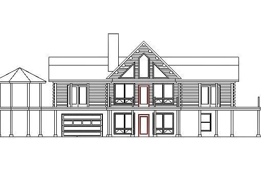 Log Home Plan #03199