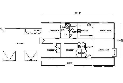Log Home Plan #03200