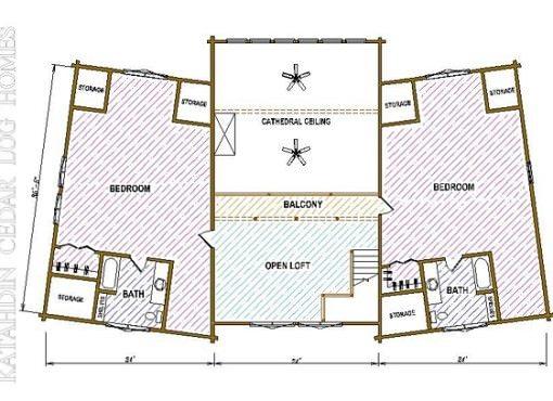 Log Home Plan #03206