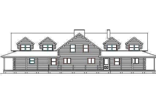 Log Home Plan #03230