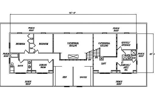 Log Home Plan #03230