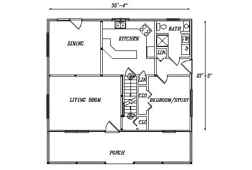 Log Home Plan #03244S
